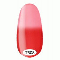 Thermo gel varnish Kodi 8 ml №T608 (red-crimson rolling in pink, enamel)