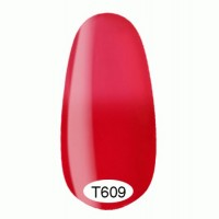 Thermo gel varnish Kodi 8 ml №T609 (red-crimson turning into light crimson, enamel)