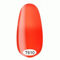Thermo gel varnish Kodi 8 ml №T610 (bright coral turning into neon orange)