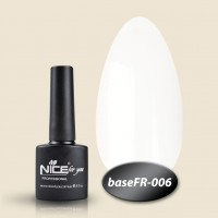 Camouflage base Nice For You Gel Base Coat FR 006 (white) 8.5 ml