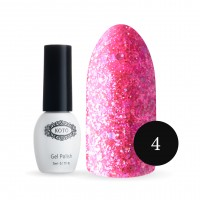 Gel-lacquer KOTO №004 5 ml (bright pink, sparkles)