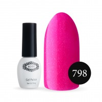 Gel-lacquer KOTO Sand №798 5 ml (hot pink with microfine, neon)