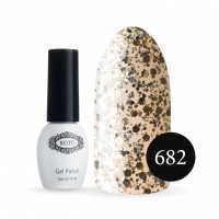 Gel-lacquer KOTO № 682 5 ml (translucent, sequins)