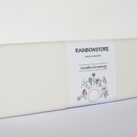 Armrest for manicure from Rainbow fabric Velor Ivory