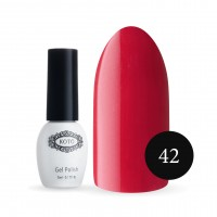Gel-lacquer KOTO №042 5 ml (rich red, micro-tablets)