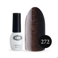 Gel-lacquer KOTO No. 272 ​​5 ml (brown, sequins)
