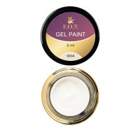 Gel-paint F.O.X 004, 5 ml (silvery)