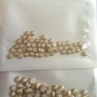 Pearl in gold frame S (White) 50 pcs