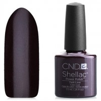 Shellac CND Dark Lava (dark violet-burgundy with microbubbles)