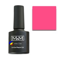 Гель-лак M-in-M Gel Polish №103 7.5 мл (светло-малиновый, кошачий глаз)