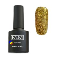 Gel Polish M-in-M Gel Polish №096 7.5 ml (golden, sparkling)