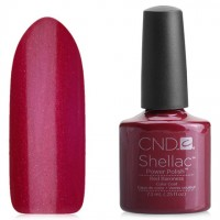 Shellac CND Red Baroness (maroon with microbubbles)