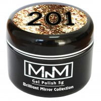 Gel-lacquer in a can M-in-M Brilliant Polish №201 (gold, sparkles) 5 g