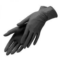 Nitrile non-sterile gloves SafeTouch Black L 1 pair