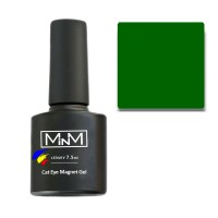 Gel Polish M-in-M Gel Polish № 107 7.5 ml (dark green, cat's eye)