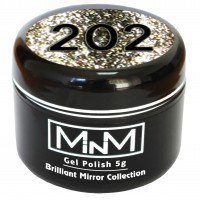 Gel-lacquer in a can M-in-M Brilliant Polish №202 (silver, sparkles) 5 g