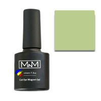 Gel Polish M-in-M Gel Polish №109 7.5 ml (gray-green, cat's eye)