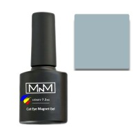 Gel Polish M-in-M Gel Polish №110 7.5 ml (gray-blue, cat's eye)