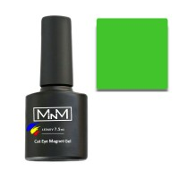 Gel Polish M-in-M Gel Polish №112 7.5 ml (light green, cat's eye)