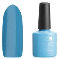 Shellac CND Cerulean Sea (rich blue enamel)