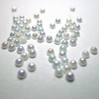 Pearl beads (2 mm) 100 pcs