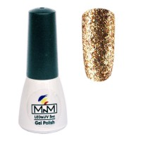 Gel polish M-in-M Brilliant Polish №201 (gold, glitter) 5 ml