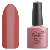 Shellac CND Clay Canyon (pastel brick enamel)