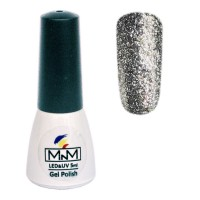 M-in-M Brilliant Polish No. 204 gel varnish (gray, glitters) 5 ml