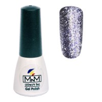 M-in-M Brilliant Polish No. 205 gel varnish (blue, glitters) 5 ml
