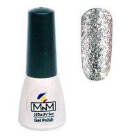 M-in-M Brilliant Polish No. 207 gel varnish (silver, glitter) 5 ml