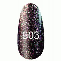 Gel-lacquer 8 ml «Space Lights» №903 (translucent with a light golden shimmer and green-pink tint)