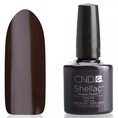 Shellac CND Faux Fur (chocolate brown) Gel-varnish CND Shellak Faux Fur has an incredible strength and durability of the coating, which retains its appearance for at least 14-17 days, lack of chips and damages, ease of application and removal