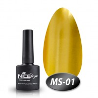 Gel-lacquer Nice For You Metalik № MS-01 (yellow-gold, metallic) 8.5 ml