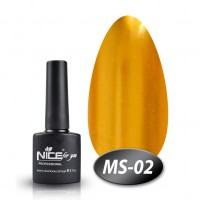 Gel-lacquer Nice For You Metalik No. MS-02 (deep orange-yellow, metallic) 8.5 ml