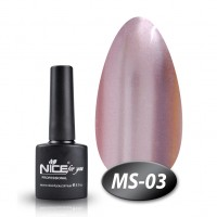 Gel-lacquer Nice For You Metalik No. MS-03 (pale red-magenta, metallic) 8.5 ml