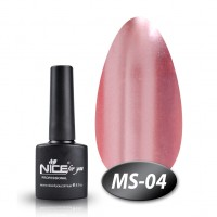 Gel-lacquer Nice For You Metalik No. MS-04 (pale violet-red, metallic) 8.5 ml