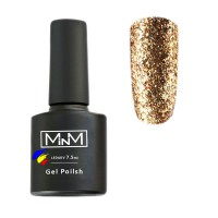 Gel polish M-in-M Brilliant Polish №201 (gold, glitter) 7.5 ml