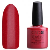 Shellac CND Hollywood (bright red with microbubbles)