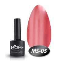 Gel-lacquer Nice For You Metalik No. MS-05 (terracotta, metallic) 8.5 ml