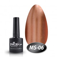Gel-lacquer Nice For You Metalik No. MS-06 (brown, metallic) 8.5 ml