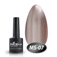 Gel-lacquer Nice For You Metalik № MS-07 (purple-gray, metallic) 8.5 ml