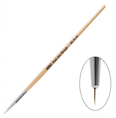 Natural brush for drawing KR-03-00 Brush natural for painting KR-03-00 is a practical and convenient manicure accessory for performing various artistic elements in nail art