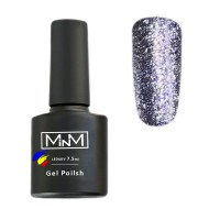 M-in-M Brilliant Polish No. 205 gel varnish (blue, glitters) 7.5 ml