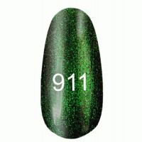 Gel-lacquer 8 ml «Space Lights» №911 (translucent with a light golden shimmer and light green tint)