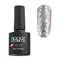M-in-M Brilliant Polish No. 207 gel varnish (silvery, sparkles) 7.5 ml