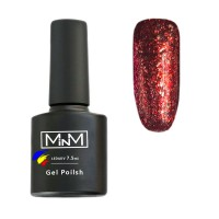 M-in-M Brilliant Polish No. 208 gel varnish (red, glitters) 7.5 ml