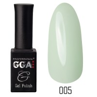 Gel-lacquer GGA Professional 10 ml №005 (Tea green, enamel)