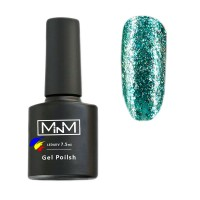 M-in-M Brilliant Polish gel varnish No. 210 (turquoise, sparkles) 7.5 ml