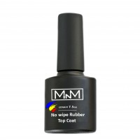 Rubber top without dispersion layer M-in-M Rubber No Wipe Top Coat, 7.5 ml