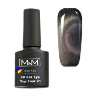 3D Cat top without sticky layer M-in-M 3D Cat Eye Top Coat No. 1, 7.5 ml
